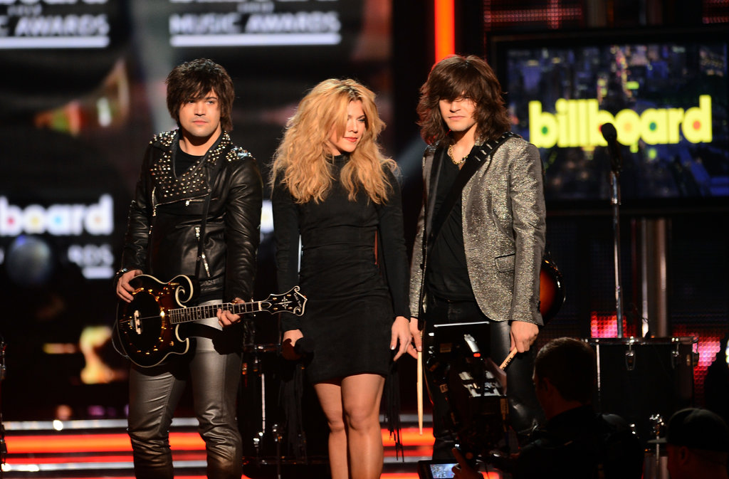 The Band Perry made an appearance during the show.