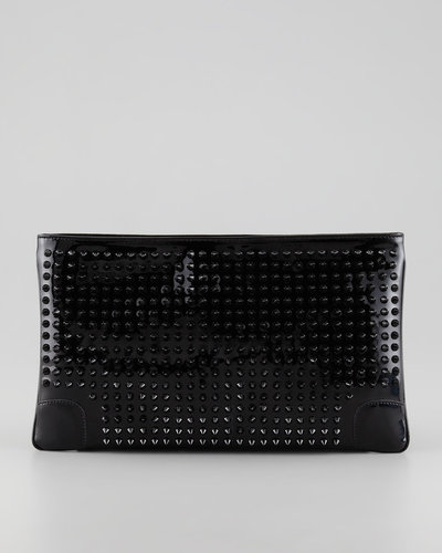 Christian Louboutin Loubiposh Studded Clutch Bag, Black