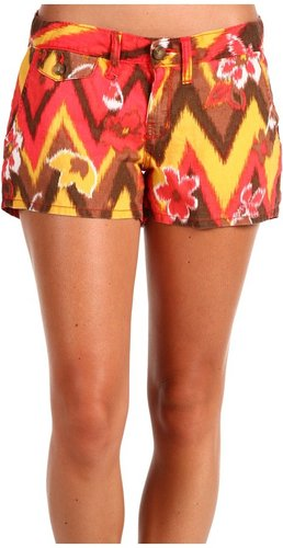 Lucky Brand - Ikat Printed Dispatcher Short (Red Multi) - Apparel
