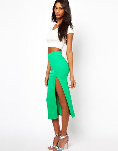 Oh My Love Textured Midi Skirt