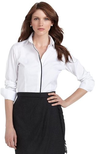 Non-Iron Tailored Fit Solid Dress Shirt