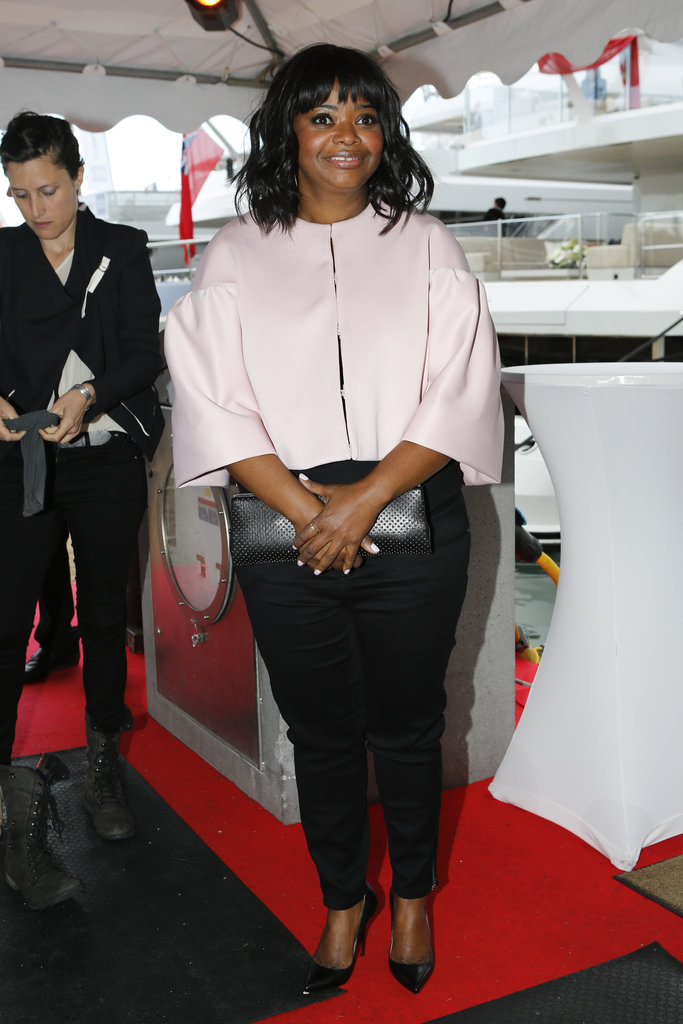 Octavia Spencer boarded the a yacht at the Cannes Film Festival on Sunday while at the Art of the Elysium event.