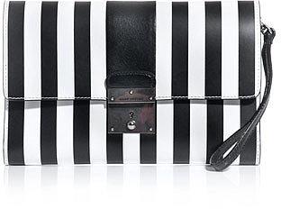 Marc Jacobs Isobel stripe clutch