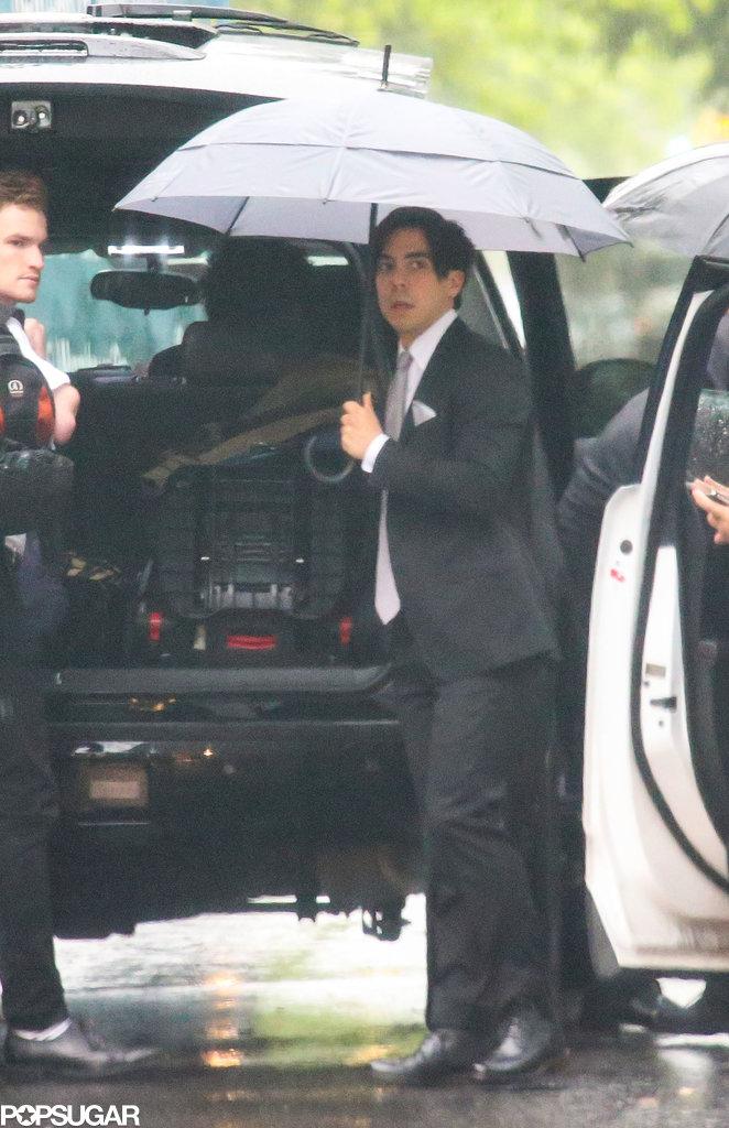 Ben Jorgensen carried an umbrella in the rain.