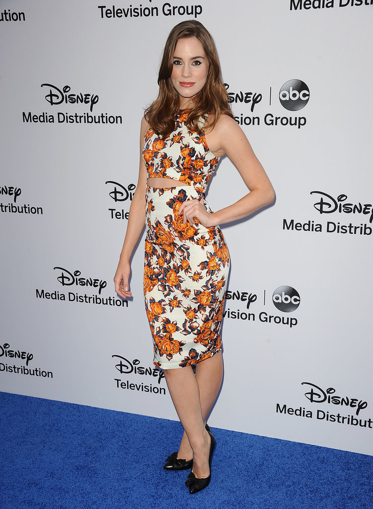 Christa B. Allen balanced flirty with feminine in a floral cutout dress at the Disney Media Networks International Upfronts in LA.