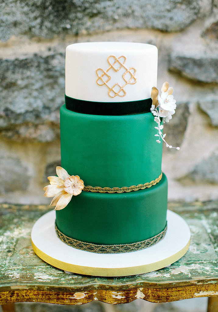 Sure Green Is An Unexpected Color For A Cake But Add