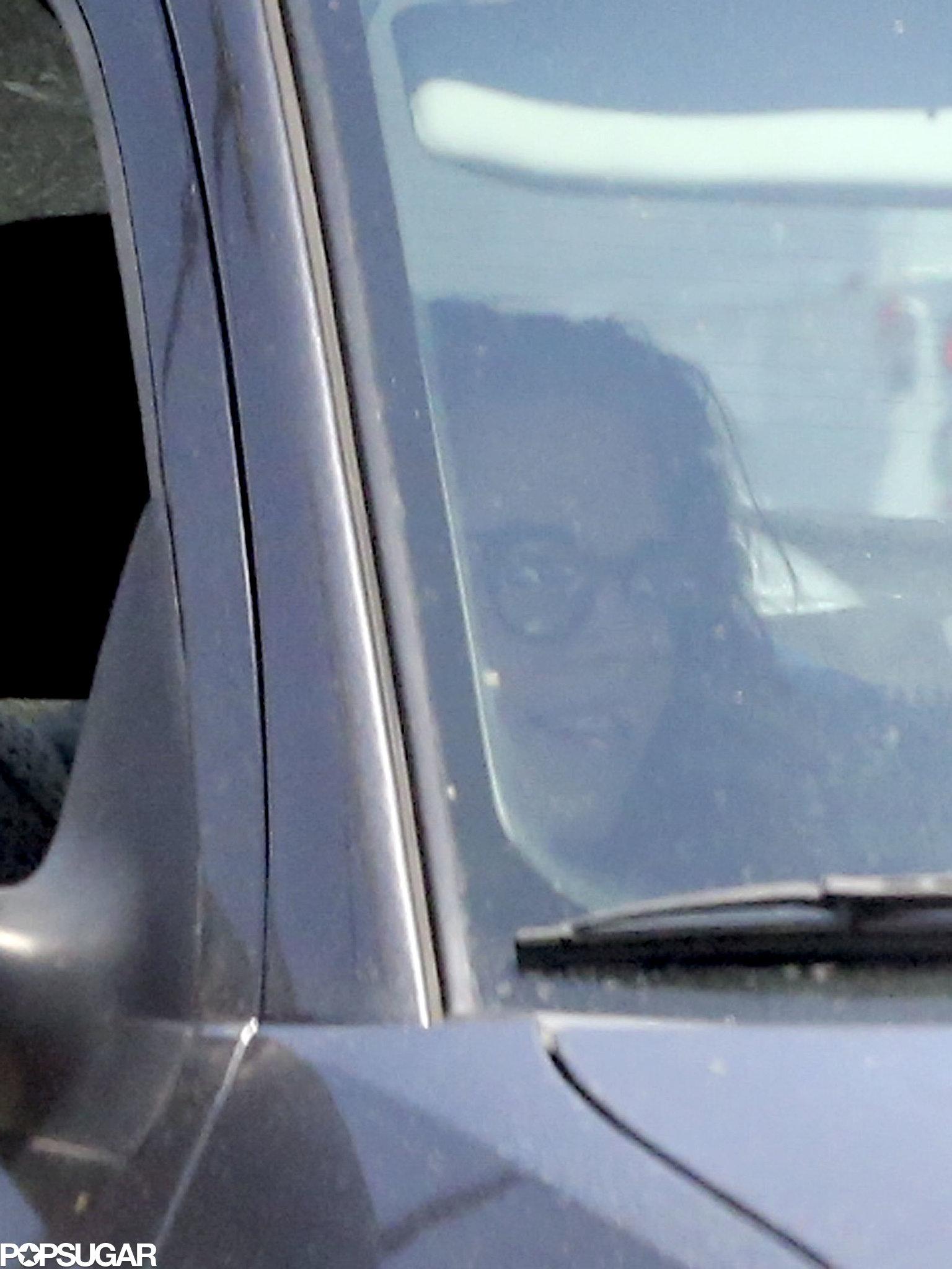 Kristen Stewart had a friend drive her around LA.