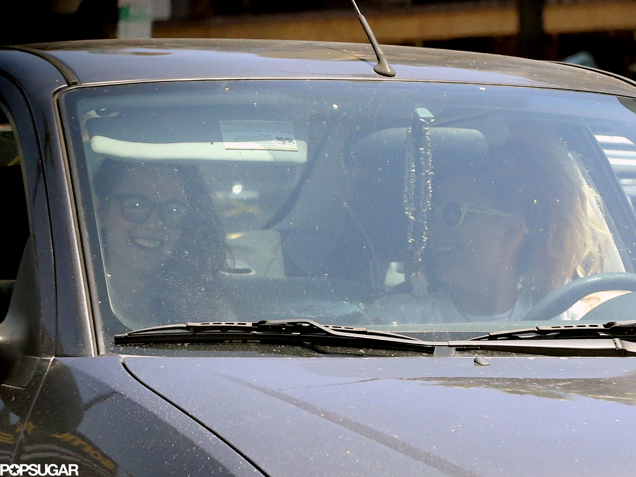 Kristen Stewart and her friend drove around LA.