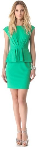 Shoshanna Raven Peplum Dress
