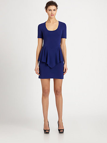 Nicole Miller Stretch Jersey Peplum Dress