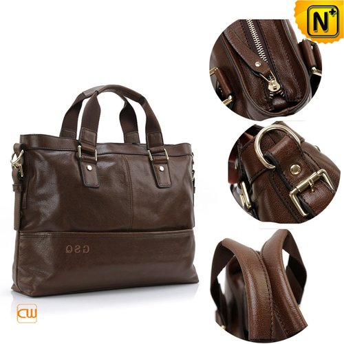 Mens Leather Commuter Briefcase CW913108 - cwmalls.com