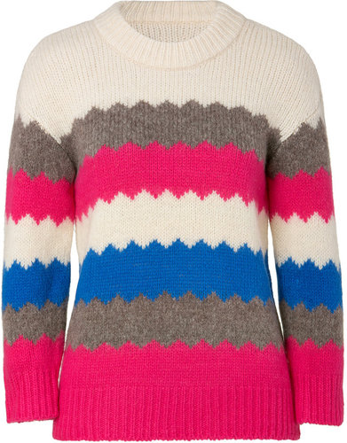 Marc by Marc Jacobs Birch-Multi Wool-Blend Nikolai Pullover
