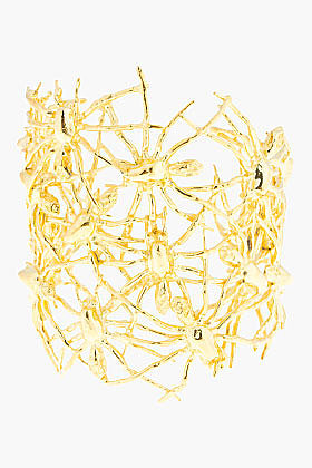 TOM BINNS Gold Nophobia Multi Spider Cuff
