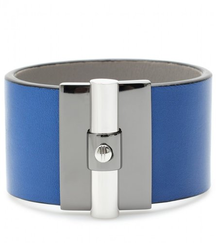 Reed Krakoff T BAR OVAL LEATHER CUFF