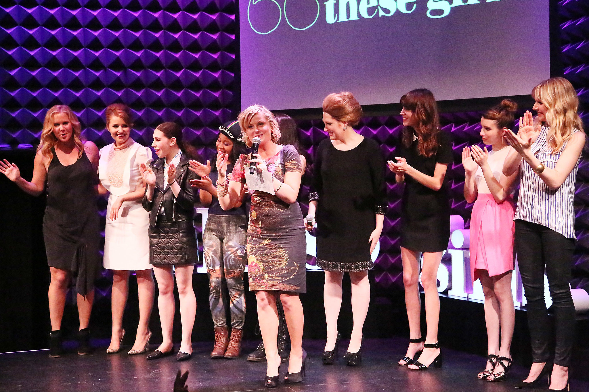 """Amy Poehler took the lead on stage at Glamour's """"These Girls"""" in NYC."""