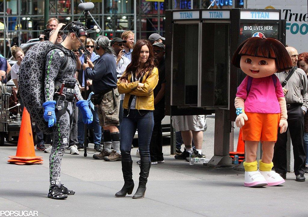 Cowabunga! Megan Fox Films With Her Shell-Less Ninja Turtle