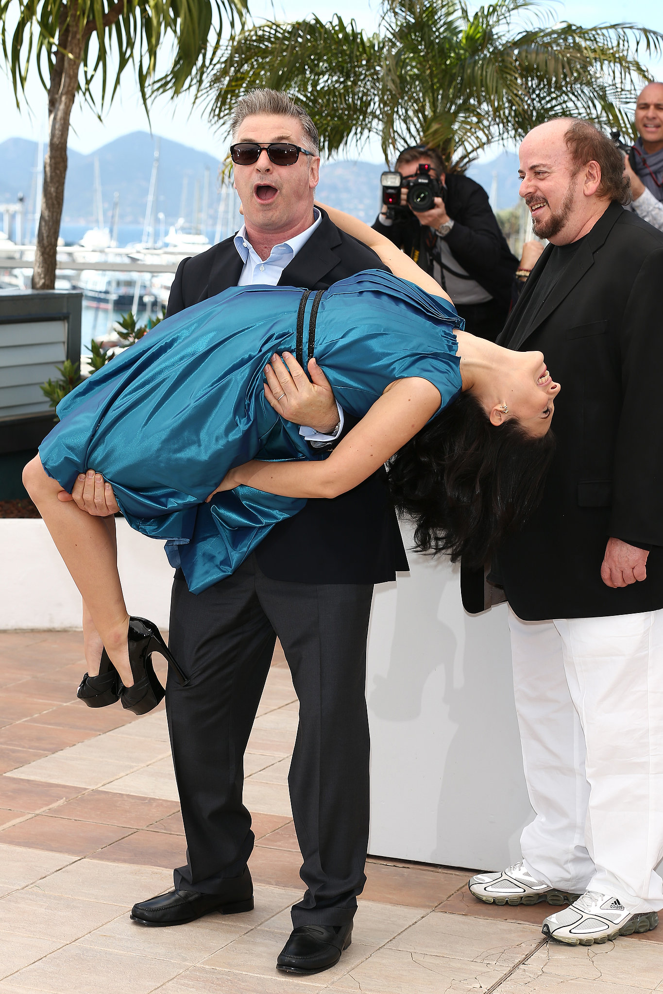 Alec Baldwin picked up his pregnant wife, Hilaria Thomas, in Cannes.