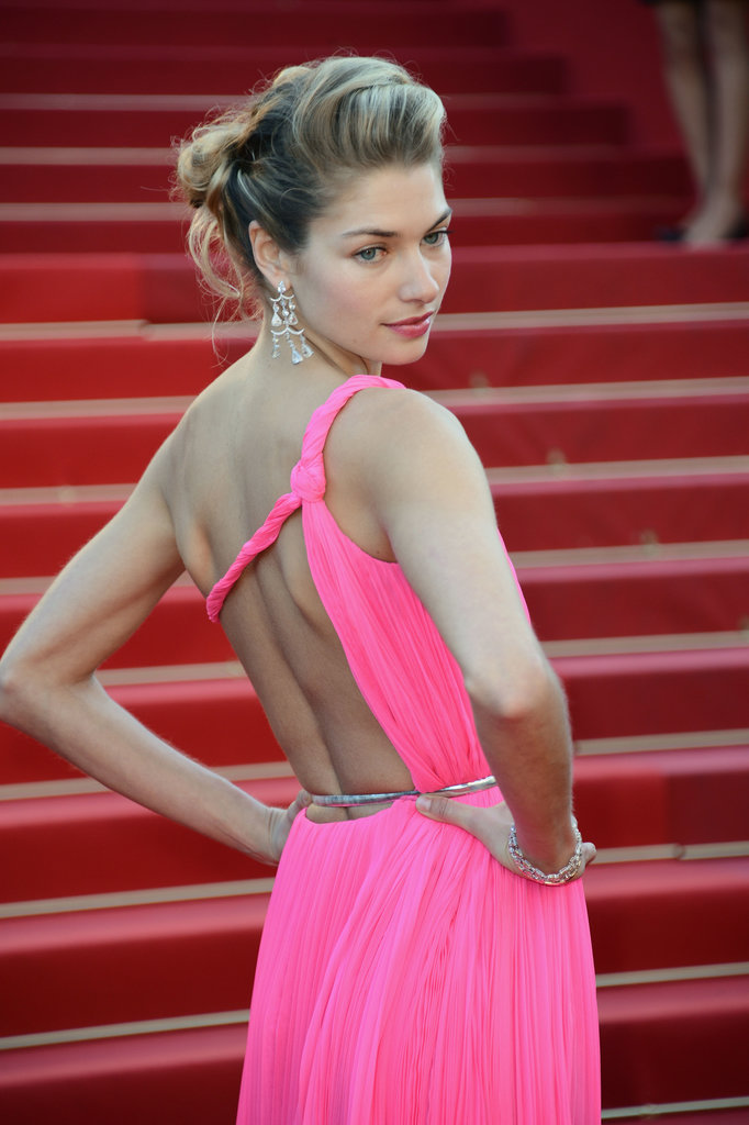 Jessica Hart struck a pose at the Cannes Film Festival for the Behind the Candelabra premiere on Tuesday.