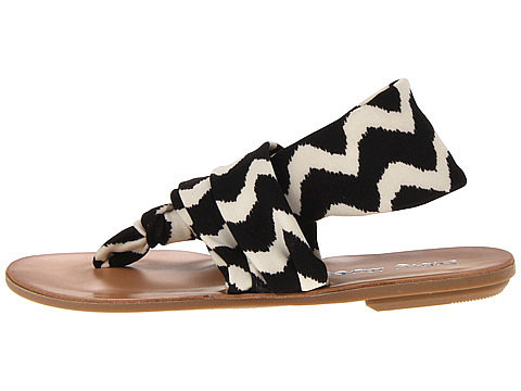 The silky straps on this graphic black-and-white Chinese Laundry style ($45) make for comfortable strolling.