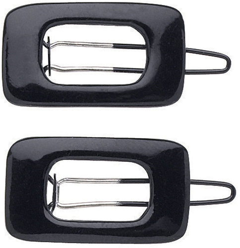 DCNL Hair Accessories DCNL Black Square Jean Wire Barrette