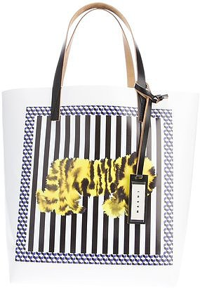 This Marni Tiger-Print Tote ($296) isn't just about the sharp stripes; we love it even more for the graphic tiger illustration, courtesy of Dutch artist Rop Van Mierlo.