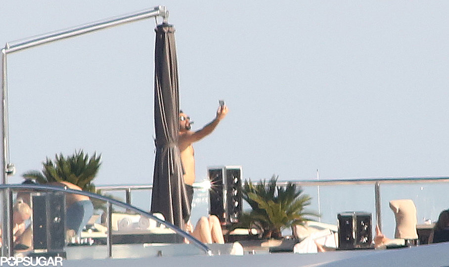 Leonardo DiCaprio snapped a selfie while lounging on Sir Philip Green's yacht in the South of France in May.