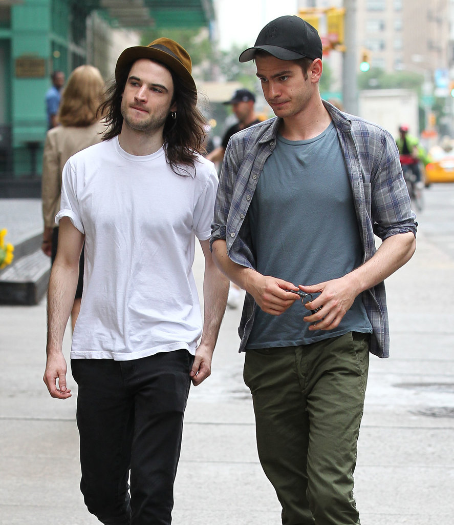 Brits and the City! Andrew Garfield Teams Up With Tom Sturridge