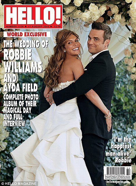 Ayda Field and Robbie Williams: August, 2010