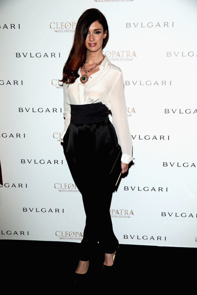 Paz Vega stepped out for Bulgari's cocktail party, but left her cocktail dress at home. The actress opted for a sophisticated menswear-inspired style instead.