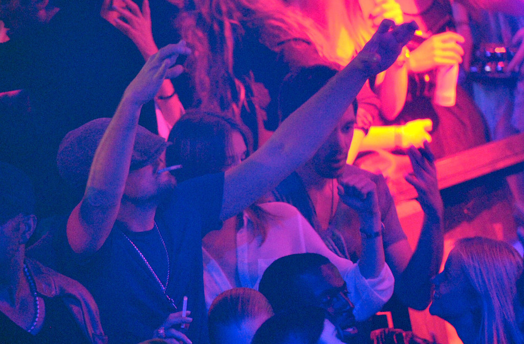 Leonardo DiCaprio got his groove on at the Gotha Club in Cannes.