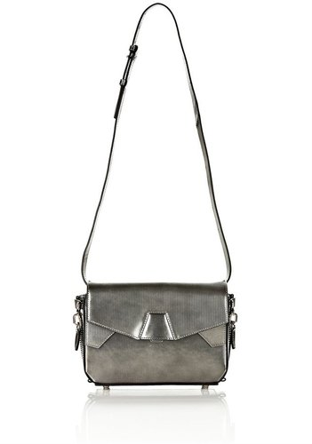 Tri-Fold Bag In Printed Metallic With Rhodium