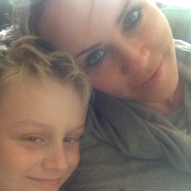 Jenny McCarthy spent some time with her birthday boy — Evan Asher — who just turned 11. Source: Instagram user jennyannmccarthy