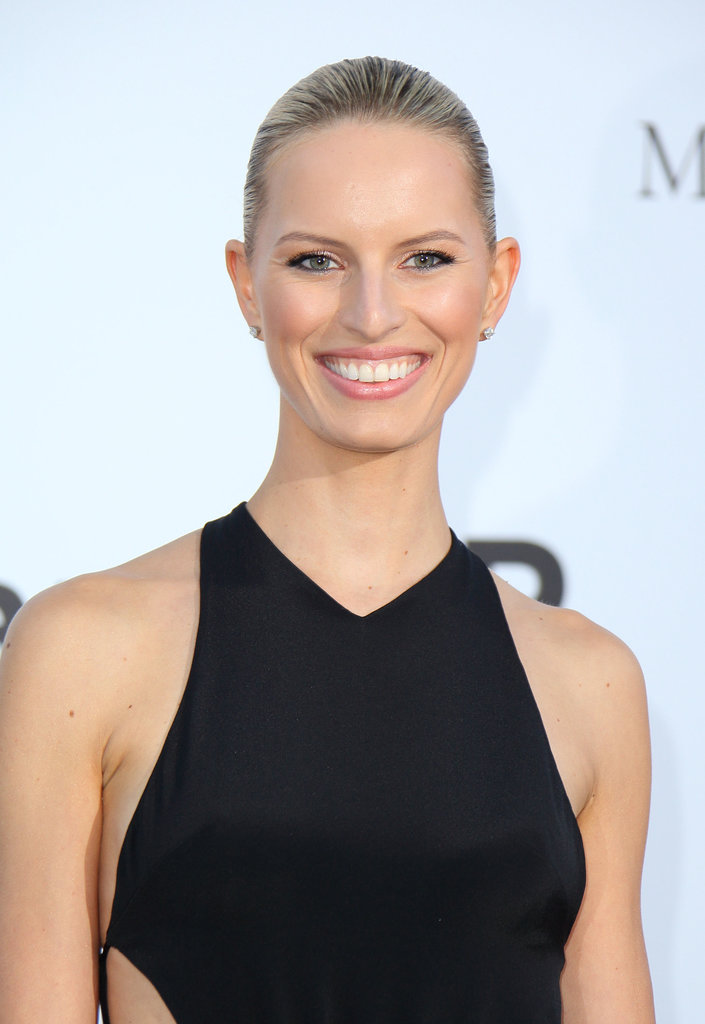A wet hair look and natural makeup left Karolina Kurkova's best assets unobscured for all to see.