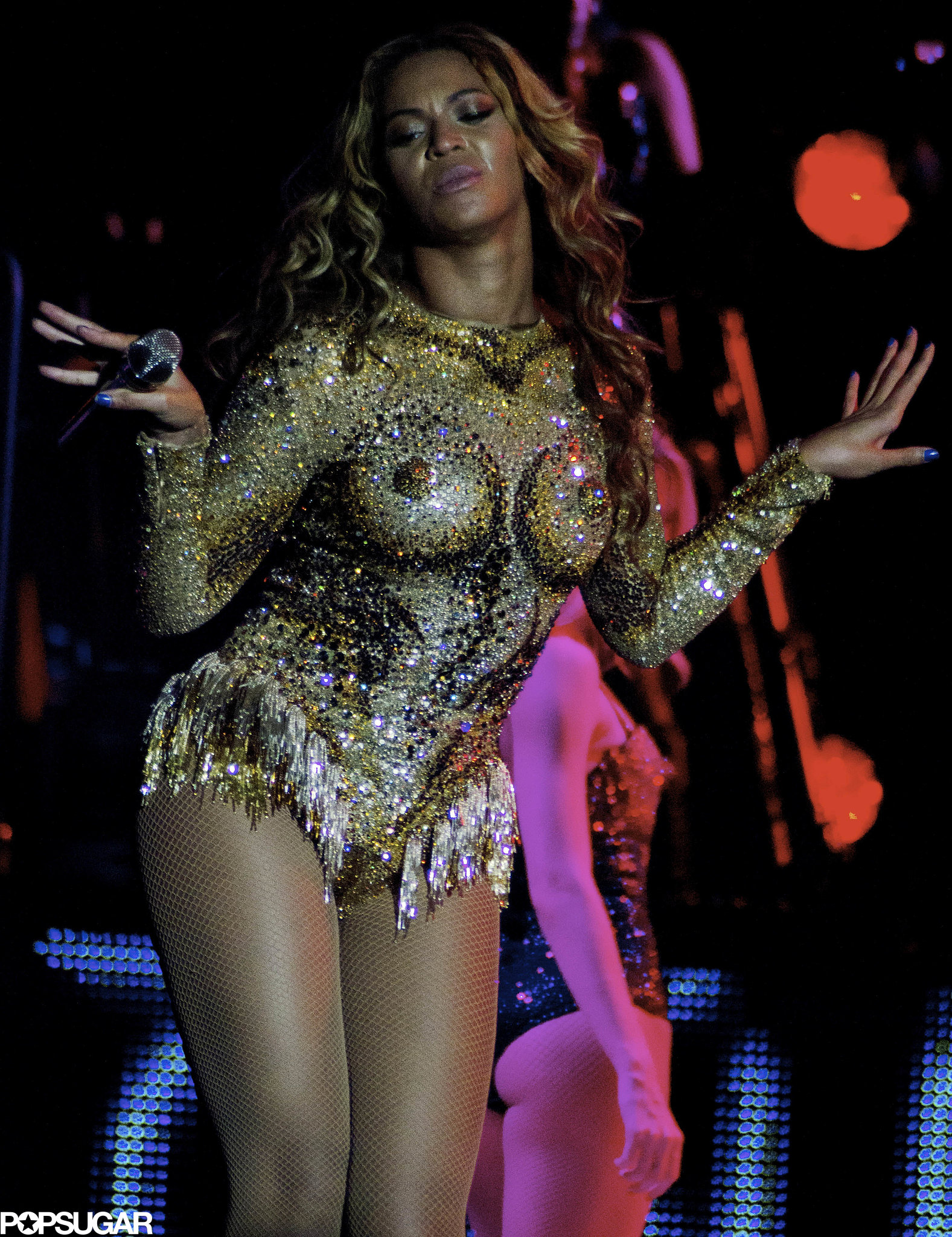 The Mrs. Carter Show World Tour kicked off with a bang at a sold-out show in Serbia on April 15.