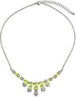 Neon green thread necklace