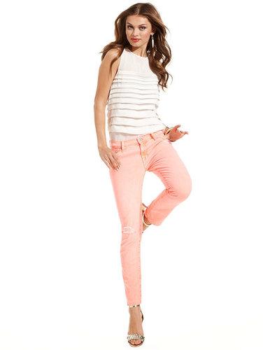 7 For All Mankind Jeans, Slim Cigarette, Pink Wash