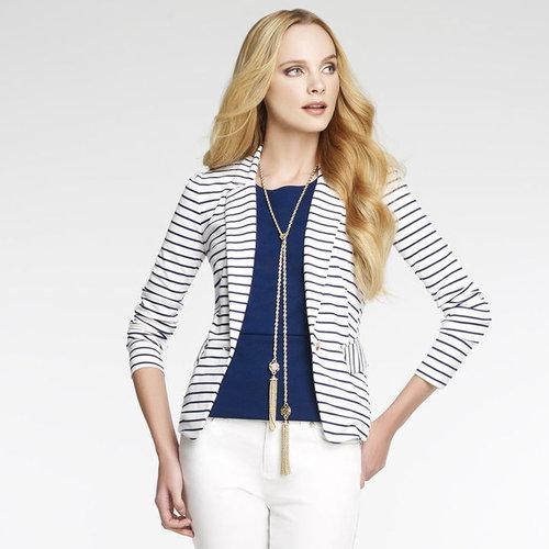Ponte Striped Blazer