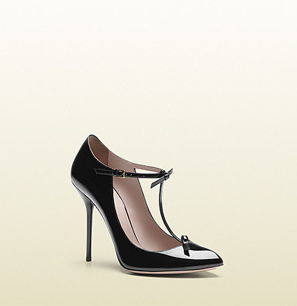 Beverly Patent Leather T-Strap Pump