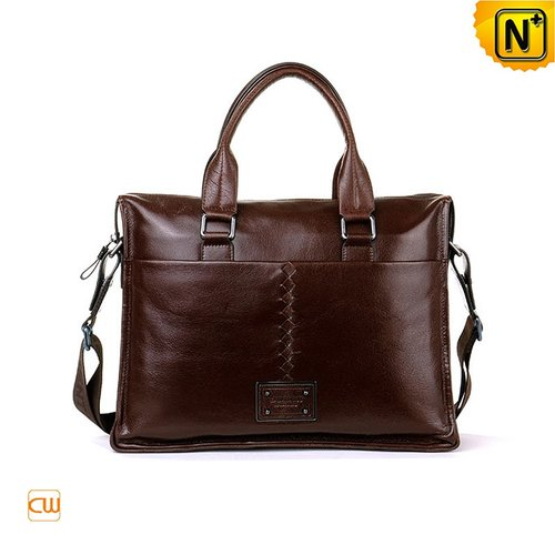 Brown Leather Business Bags CW901205 - cwmalls.com