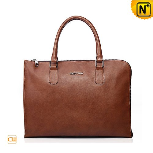 Brown Leather Briefcase CW901525 - cwmalls.com