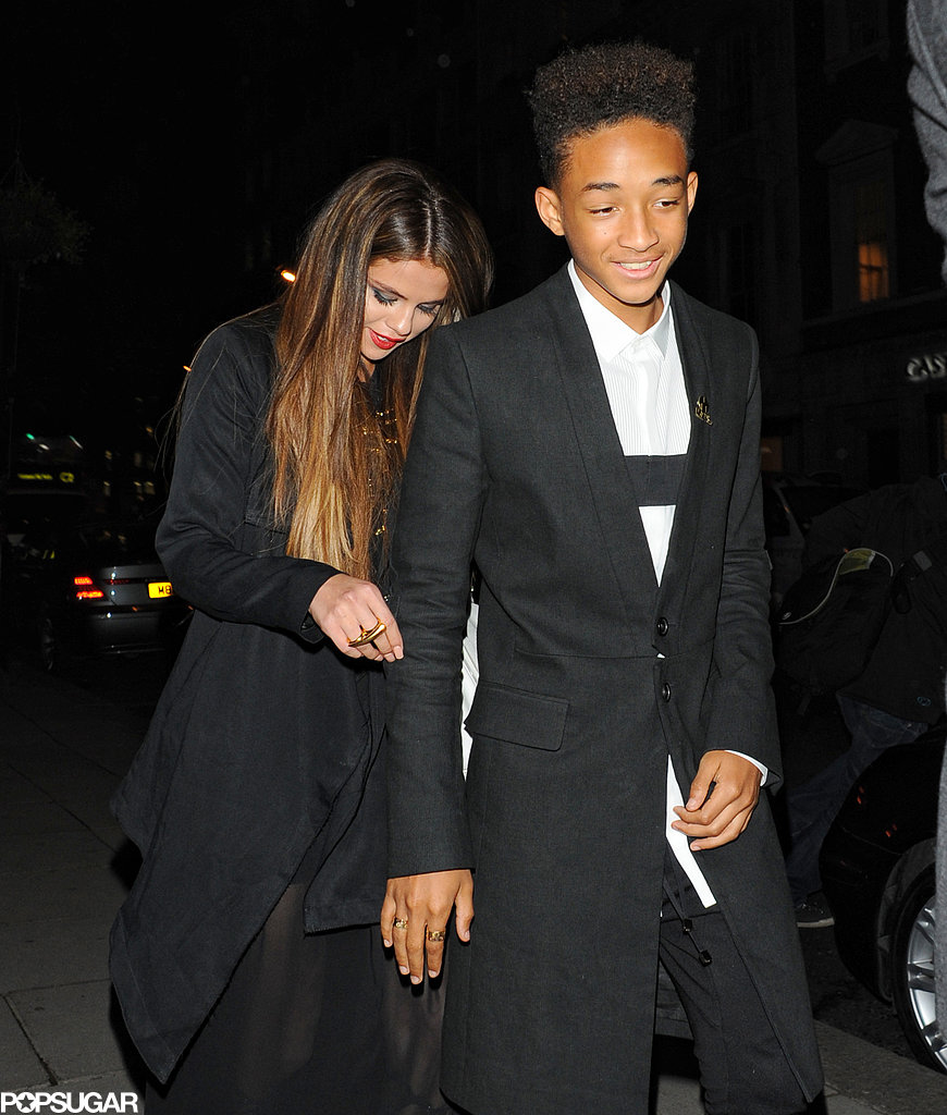 Selena Gomez and Jaden Smith walked together in London.