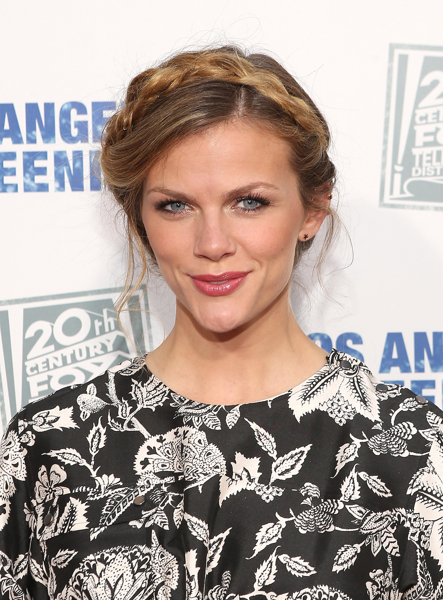 Brooklyn decker wore a pretty braided up do that s easy to re create