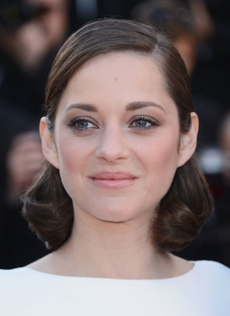 Something about Marion Cotillard's shimmering eye makeup at The Immigrant debut calls to mind the bridal march. Flawless.