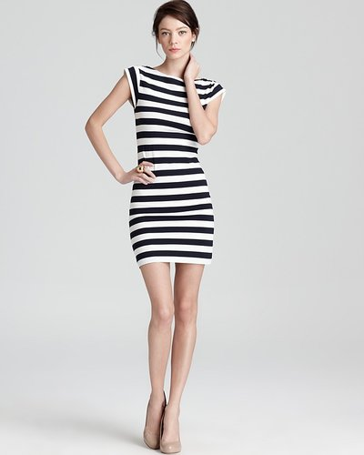 FRENCH CONNECTION Dress - Multi Jag Stripe