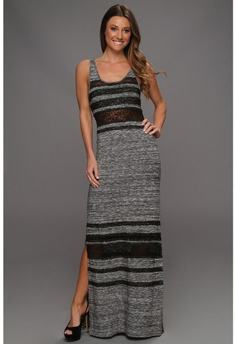 Free People - Hazy Days Lace Stripe Maxi Dress (Slate) - Apparel