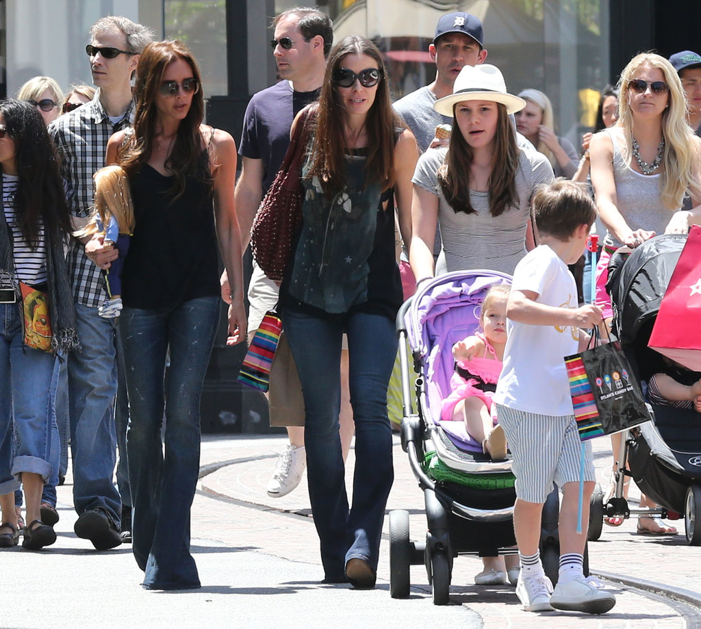 David Beckham Meets Up With Victoria and the Kids in LA!