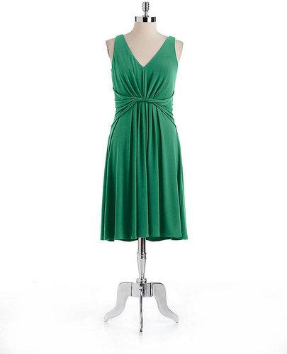 T. TAHARI Sleeveless V-Neck Dress