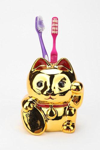 Lucky Cat Toothbrush Holder