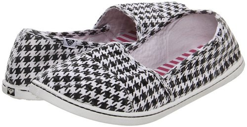 Roxy - Pier '12 (Black/Natural Houndstooth) - Footwear