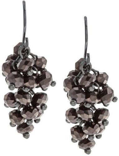 New! Kenneth Cole Purple CZ Dangle Earrings